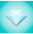 Abstract creative concept icon of diamond vector image