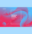 abstract fluid shape background in duotone colors vector image