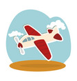 airplane kids toy isolated icon vector image vector image