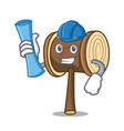 architect mallet character cartoon style vector image vector image