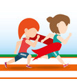 athlete woman running in competition championship vector image vector image