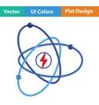 Atom energy icon vector image vector image