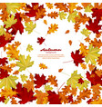 autumn leaves on white background vector image vector image