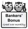 Bankers bonuses vector image vector image