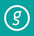 basic font letter g icon design vector image vector image