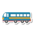 bus public transport isolated icon vector image
