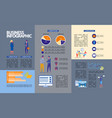business infographic with people and diagrams vector image