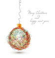 christmas decoration - continuous line drawing vector image