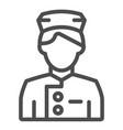 concierge line icon butler vector image vector image