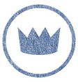 crown rounded fabric textured icon vector image vector image