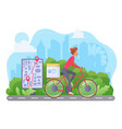 cycle delivery flat vector image