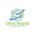 dna world concept logo designs simple modern vector image