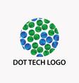 dot tech logo vector image vector image