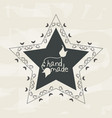emblem in shape of star with branches design vector image vector image