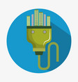 energy plug with green city vector image