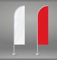 feather beach flag vector image