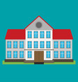 flat of school building for back to school vector image