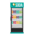 fridge drink with drinks in cans flat vector image vector image