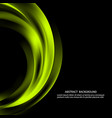 green abstract shapes on dark background vector image vector image