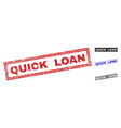 grunge quick loan scratched rectangle stamps vector image vector image