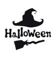 halloween theme handdrawn lettering phrase vector image vector image