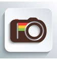 Hipster photo or camera icon vector image