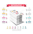 infographic design with stack of paper business vector image vector image
