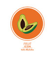 infographic icon nutrition design graphic vector image vector image