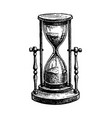 ink sketch vintage hourglass vector image vector image