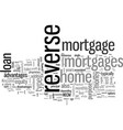 is a reverse mortgage right for you vector image vector image