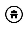 islamic mosque logo logo or icon design vector image