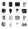 isolated object of electricity and electric symbol vector image vector image