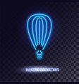 light blue neon light icon vector image