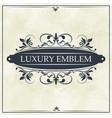 luxury emblem swirl ornament typographic design vector image vector image