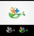 medical health care logo vector image