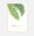 minimalist botanical wedding invitation card vector image