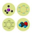 molecular structure medical evolution life vector image vector image