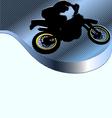 motorcycle racing background vector image vector image