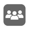 people flat icon simple sign of social group vector image