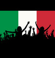 people silhouettes celebrating italy national day vector image vector image