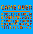 pixel font 8-bit symbols digital video game vector image vector image