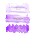 purple brush stroke watercolor vector image vector image