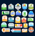 real estate agency construction building icons vector image