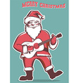 Santa Claus playing guitar isolated vector image vector image