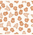 seamless pattern background animals vector image vector image