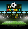 soccer match on footbal stadium - chanpionship vector image