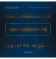 Sound waves design vector image vector image