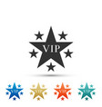 star vip with circle of stars icon isolated vector image vector image