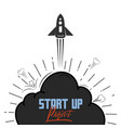 startup project concept flat design missile and vector image vector image