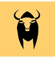 Strong geometric bull vector image vector image